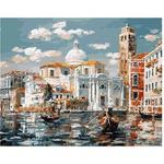 Раскрашивание по холсту. Размер холста 40*50 см. Венеция. Церковь Сан Джеремия.