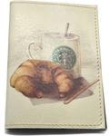 Кожаная обложка на паспорт. Утренний завтрак