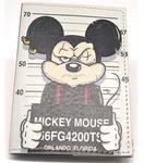 Кожаная обложка на паспорт. Микки-арестант