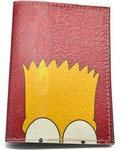 Кожаная обложка на паспорт. Барт Симпсон
