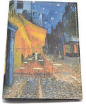 Кожаная обложка на паспорт. Ван Гог. Ночное кафе