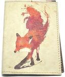 Кожаная обложка на паспорт. Лиса
