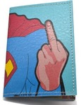 Кожаная обложка на паспорт. Супермен