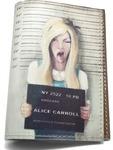 Кожаная обложка на паспорт. Алиса