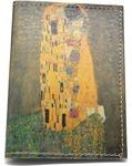 Кожаная обложка на паспорт. Густав Климт. Поцелуй
