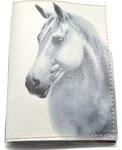 Кожаная обложка на паспорт. Лошадь