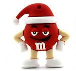 Подарочная флешка. M&M`s в новогоднем колпаке