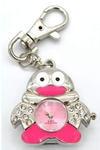 Ювелирные часы с флешкой. Пингвин (цвет розовый)
