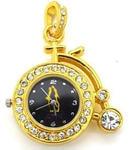 Ювелирные часы с флешкой. Старинный велосипед (цвет золото)