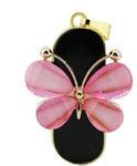Ювелирная флешка-брелок. Бабочка (цвет розовый)