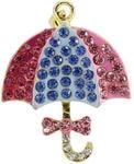 Ювелирная флешка-кулон. Зонтик в стразах