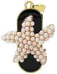 Ювелирная флешка-брелок. Морская звезда из жемчужин