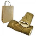 Зимние солдатские рукавицы (двухпалые) в крафт-пакете