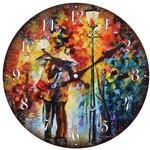 """Часы настенные """"Поцелуй под дождем"""""""