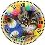 """Часы настенные """"Котик с клубочками"""""""