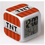 Настольные часы-будильник с подсветкой Майнкрафт. Динамит
