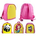 Детский пиксельный рюкзак. Upixel-mini Backpack WY-A012. Цвет розовый-желтый