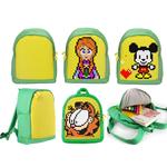 Детский пиксельный рюкзак. Upixel-mini Backpack WY-A012. Цвет зеленый-желтый