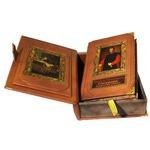 Подарочная книга в кожаном переплете. Н. Макиавелли Государь. Искусство войны (в коробе)