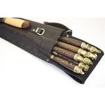 Подарочный набор для приготовления шашлыка в кожаном чехле. Охота № 2 (на 8 персон)