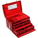 Подарочная женская шкатулка-чемоданчик (цвет темно-красный)