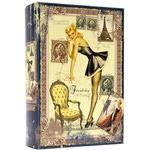 Подарочная шкатулка в виде книги. Винтаж-1 (большой формат)