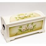 Подарочный деревянный сундук. Цветы (48х29х31см)