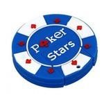 Подарочная флешка. Покерная фишка Poker Stars (цвет синий)