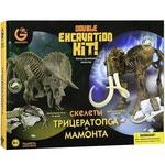 """Двойной набор палеонтолога """"Трицератопс и Мамонт"""""""