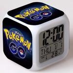 Часы настольные пиксельные с подсветкой Покемон