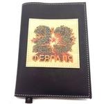 Подарочный ежедневник в кожаной обложке. С праздником, 23 февраля! (цвет черный)