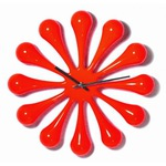 Настенные часы. Капли (цвет красный)
