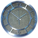 Настенные металлические часы. Серый песок
