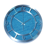 Настенные металлические часы. Голубой песок