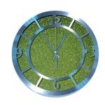 Настенные металлические часы. Зеленый песок