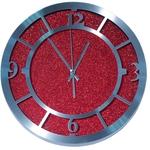 Настенные металлические часы. Красный песок