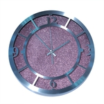 Настенные металлические часы. Розовый песок