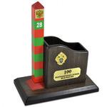 Карандашница большая и сувенирный пограничный столб к 100-летию Пограничной службы ФСБ России