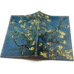 """Кожаная обложка на паспорт. Ван Гог """"Цветущие ветки миндаля"""""""
