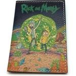 Кожаная обложка на паспорт. Рик и Морти