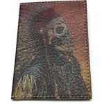 Кожаная обложка на паспорт. Индеец