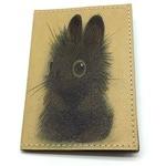 Кожаная обложка на паспорт. Зайчик