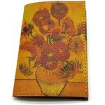 """Кожаная обложка на паспорт. Ван Гог """"Подсолнухи"""""""