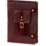 Подарочный ежедневник в кожаном переплете. «Мобильный карман»