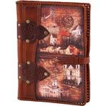 Подарочный ежедневник в кожаном переплете. «Старый город»
