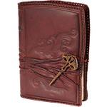 Подарочный ежедневник в кожаном переплете. «Посох мудрости»