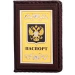 Кожаная обложка на паспорт. «Россия Златоглавая»