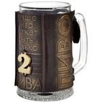 Подарочный бокал в кожаном футляре. «Два пива»