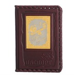 Кожаная обложка на паспорт. «Финансисту»