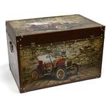 Подарочный деревянный сундук. Ретро-автомобиль (61x40x40см)